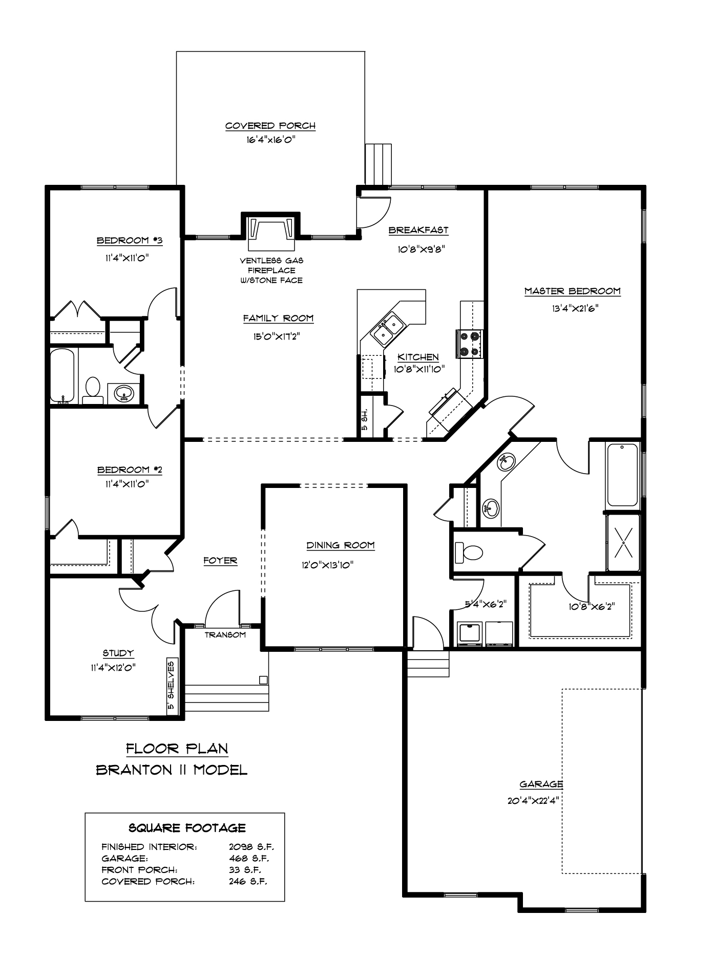 Branton II Floor Plan AB Homes Suffolk VA