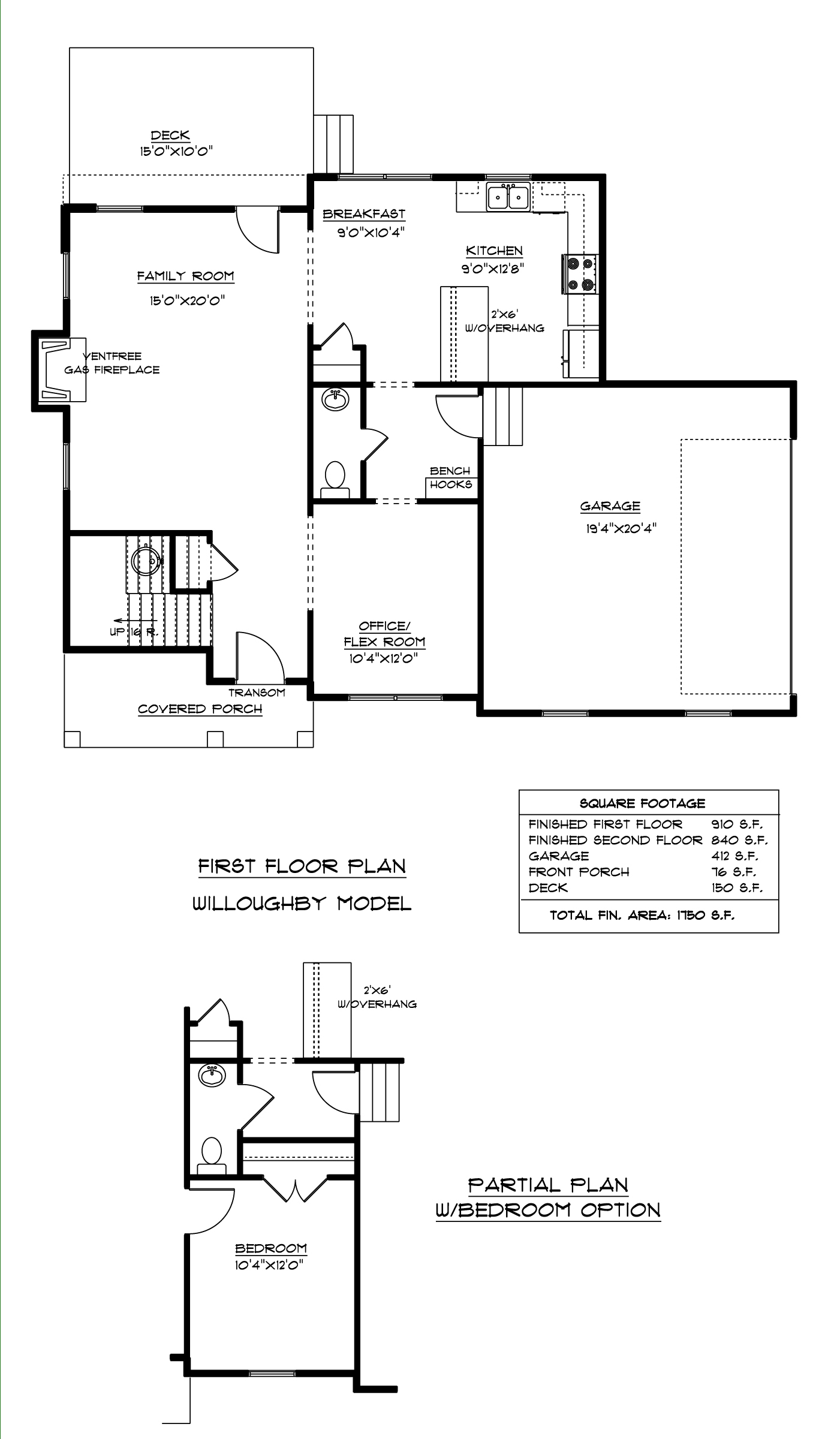 First Floor Willoughby Floor Plan AB Homes Suffolk VA