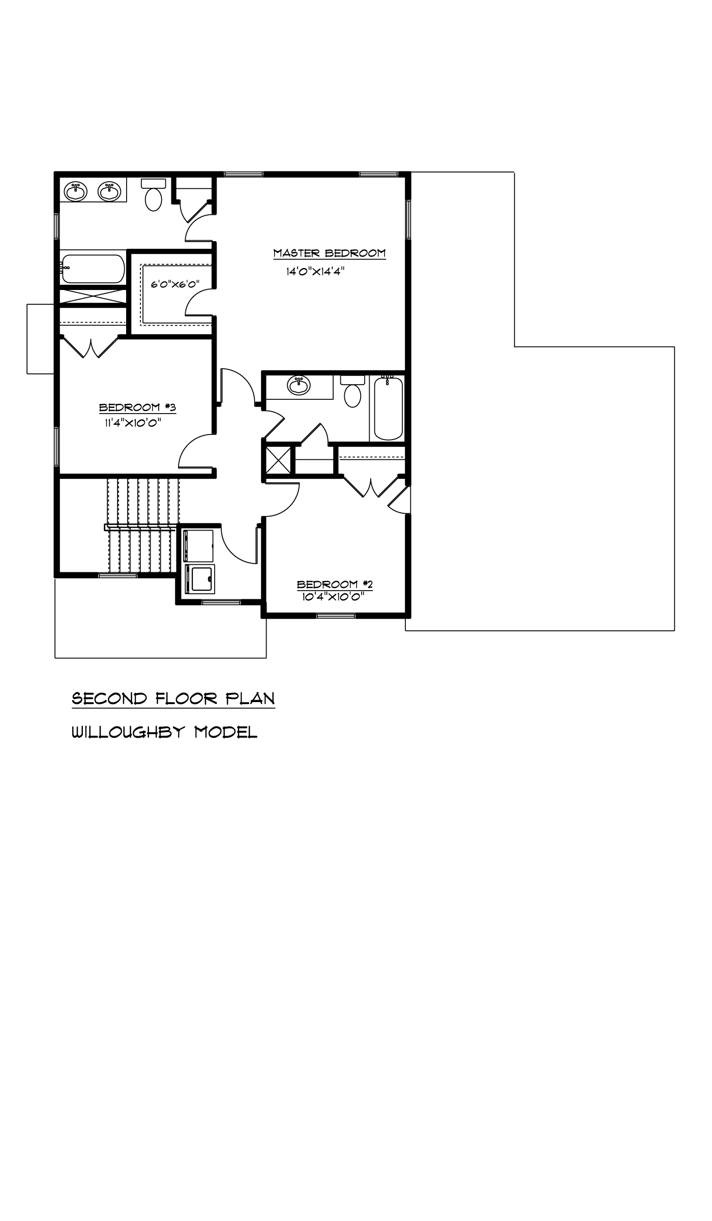 Second Floor Willoughby Floor Plan AB Homes Suffolk VA