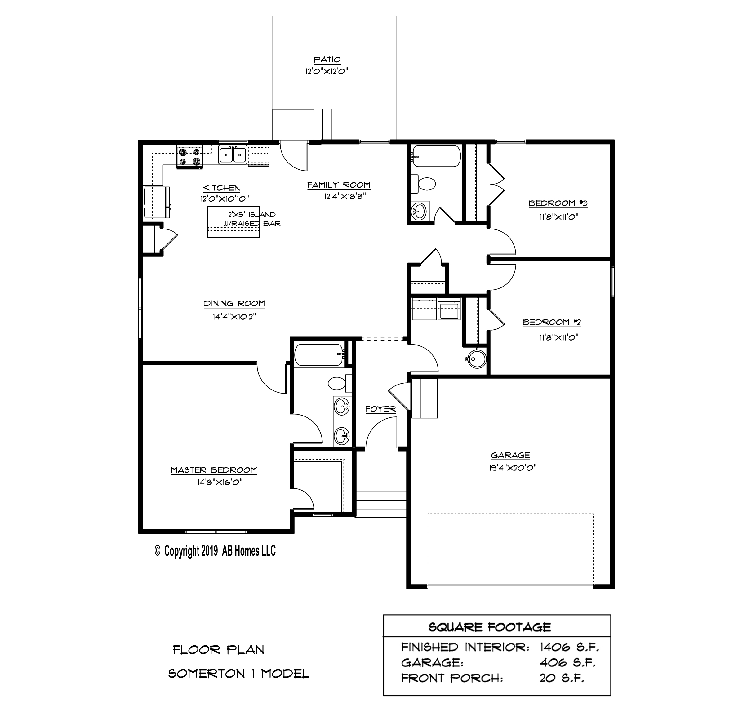 AB Homes The Somerton Floor Plan new home builder