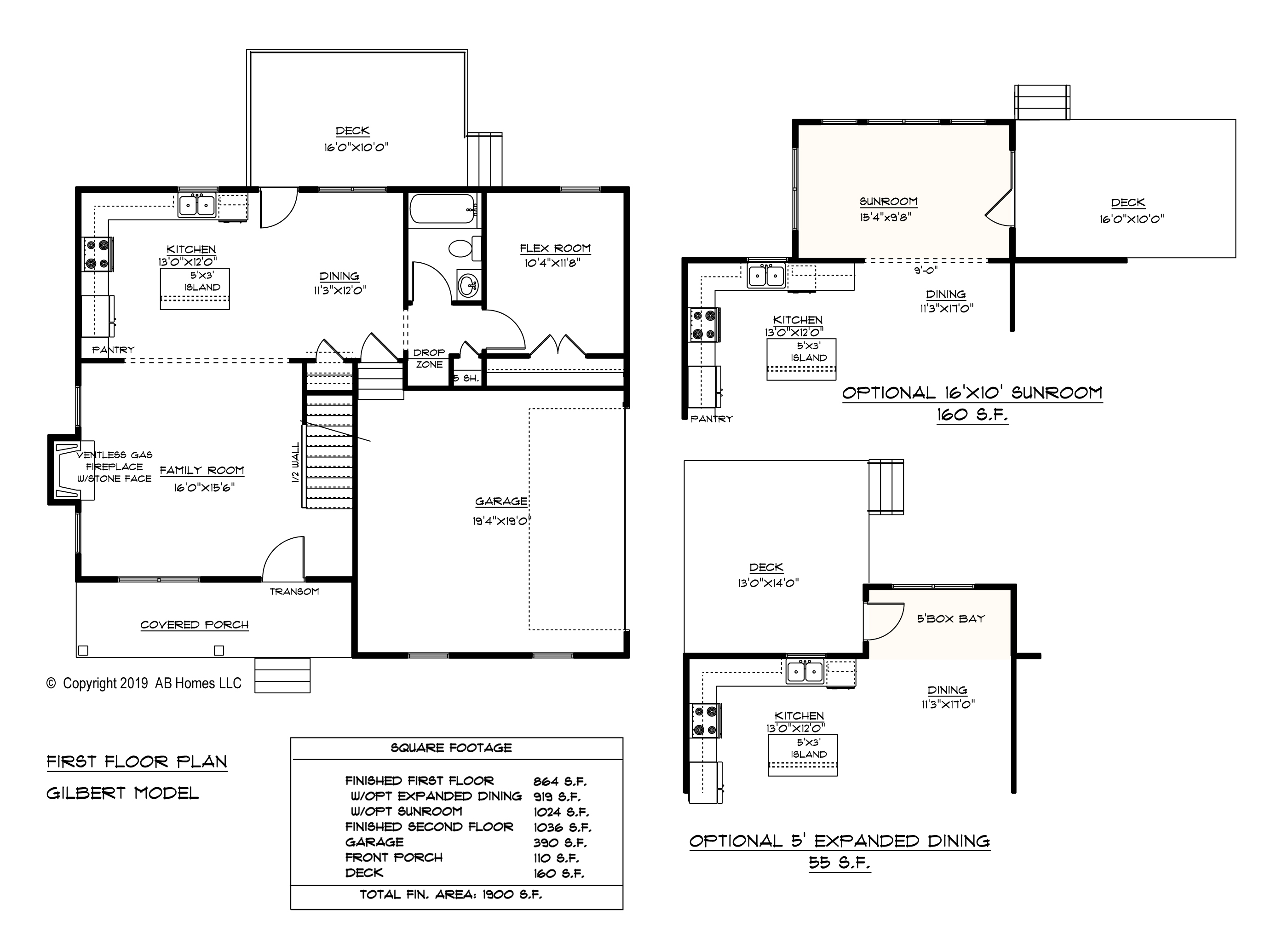 AB Homes The Gilbert Floor Plan new home builder
