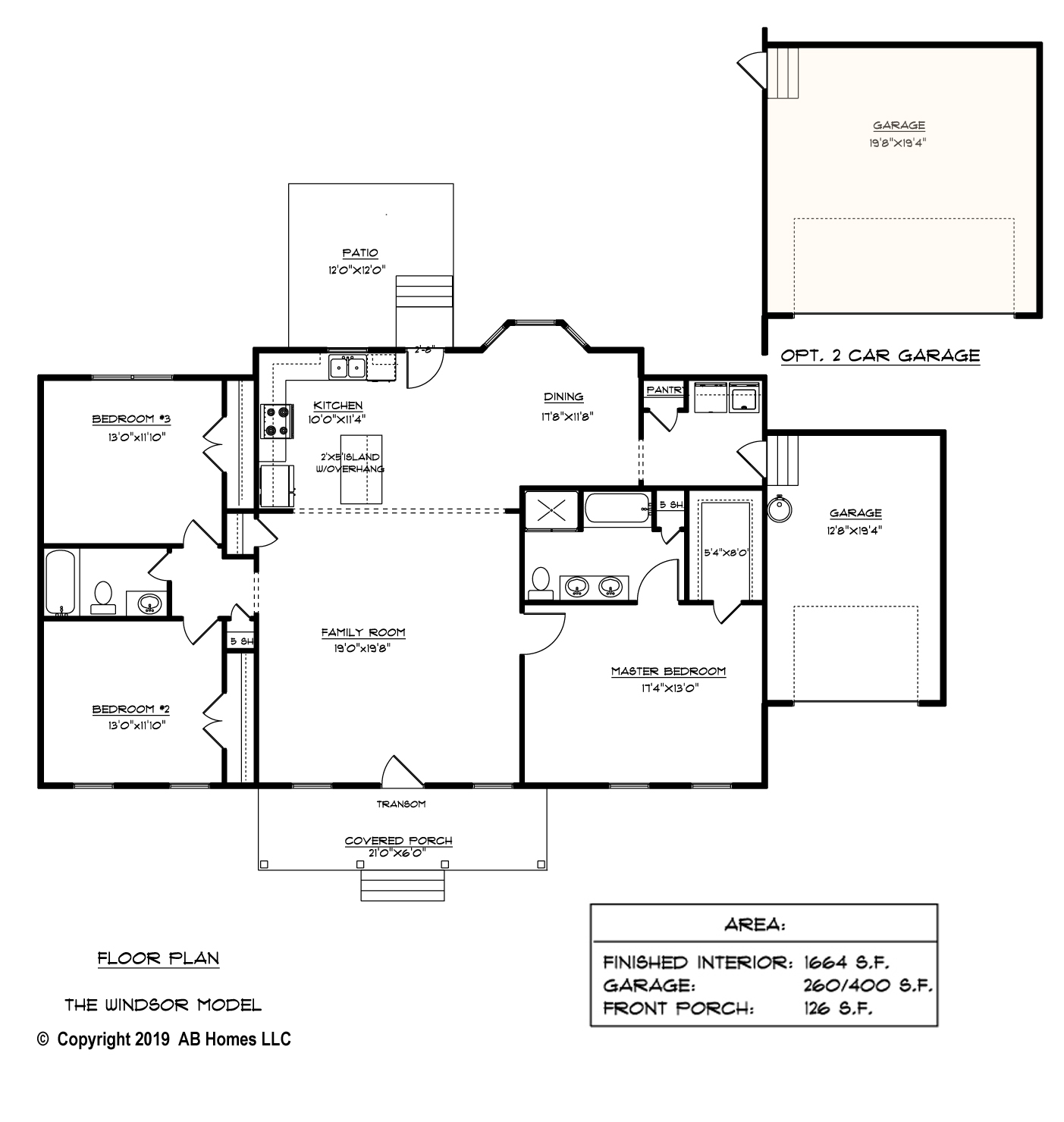 AB Homes The Windsor Floor Plan new home builder