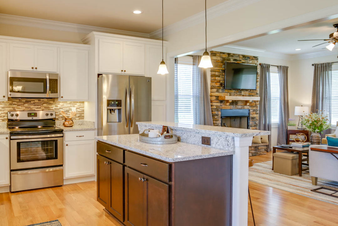 AB Homes Kitchen With Granite And Stainless Steel Appliances