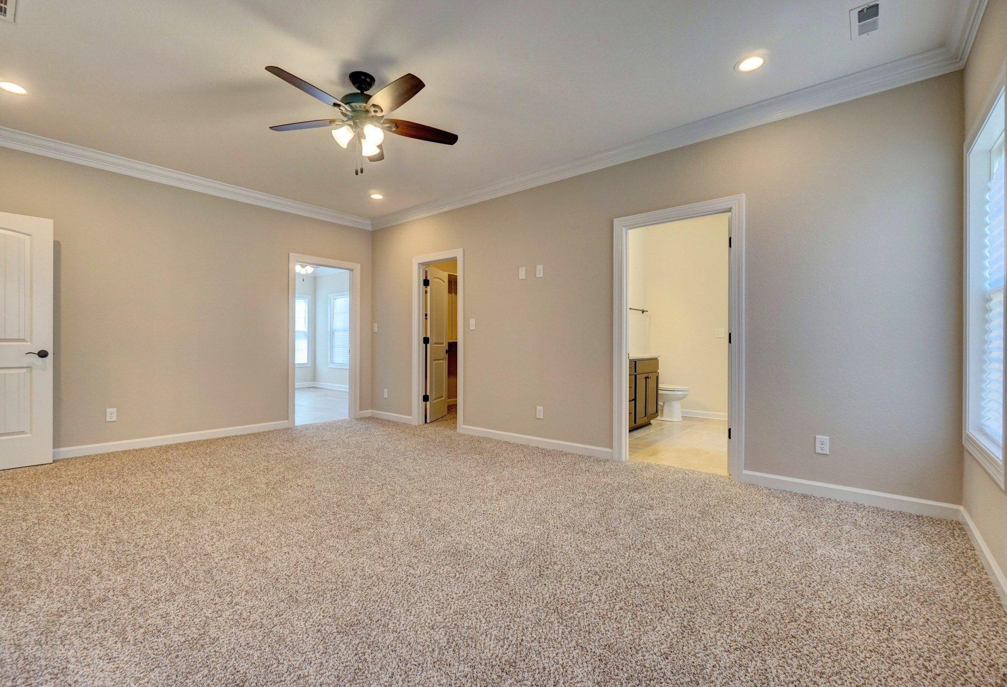 AB Homes The Springfield floor plan Spacious master bedroom with a luxurious master bath