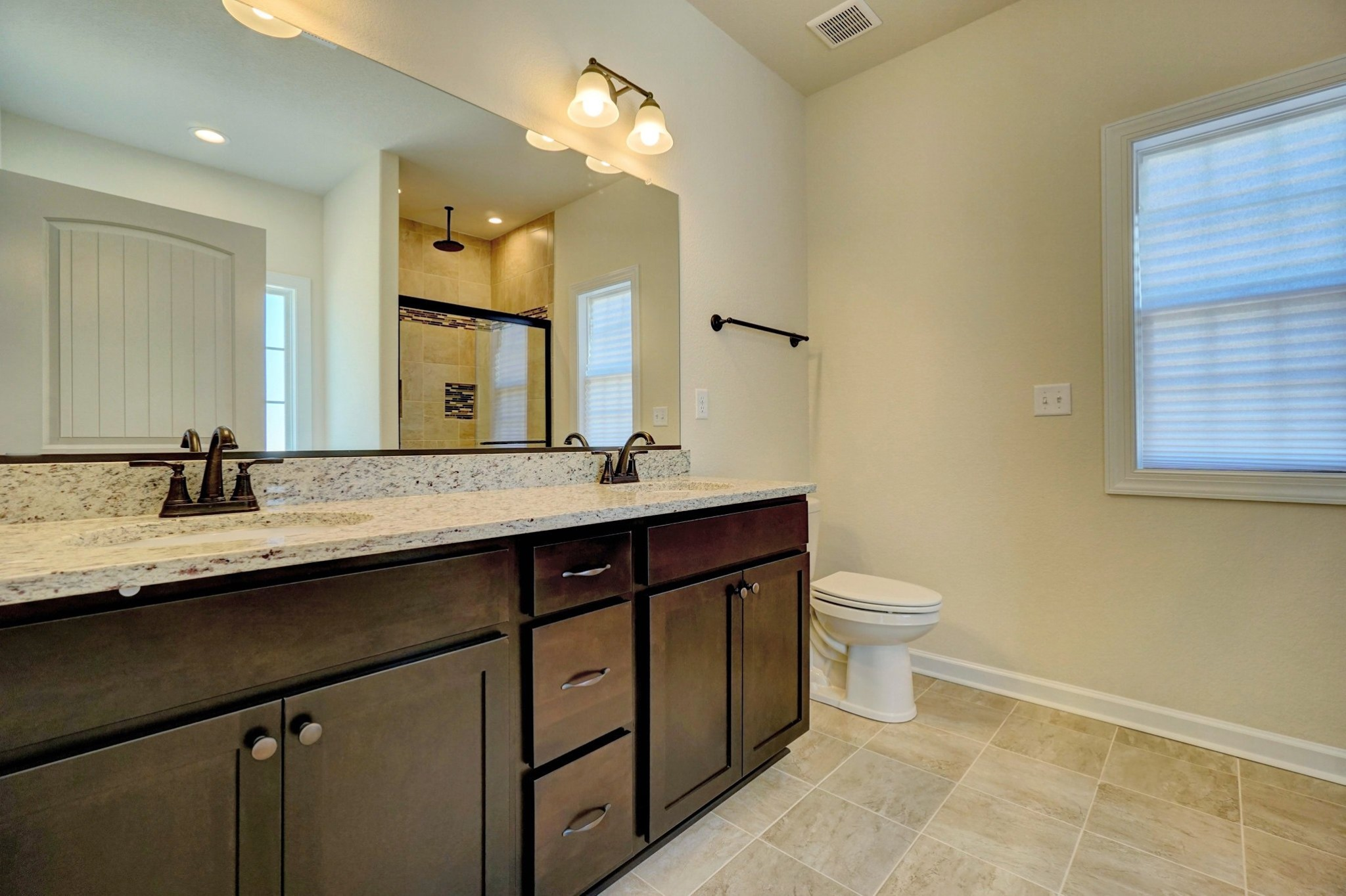 AB Homes The Springfield floor plan luxurious master bath