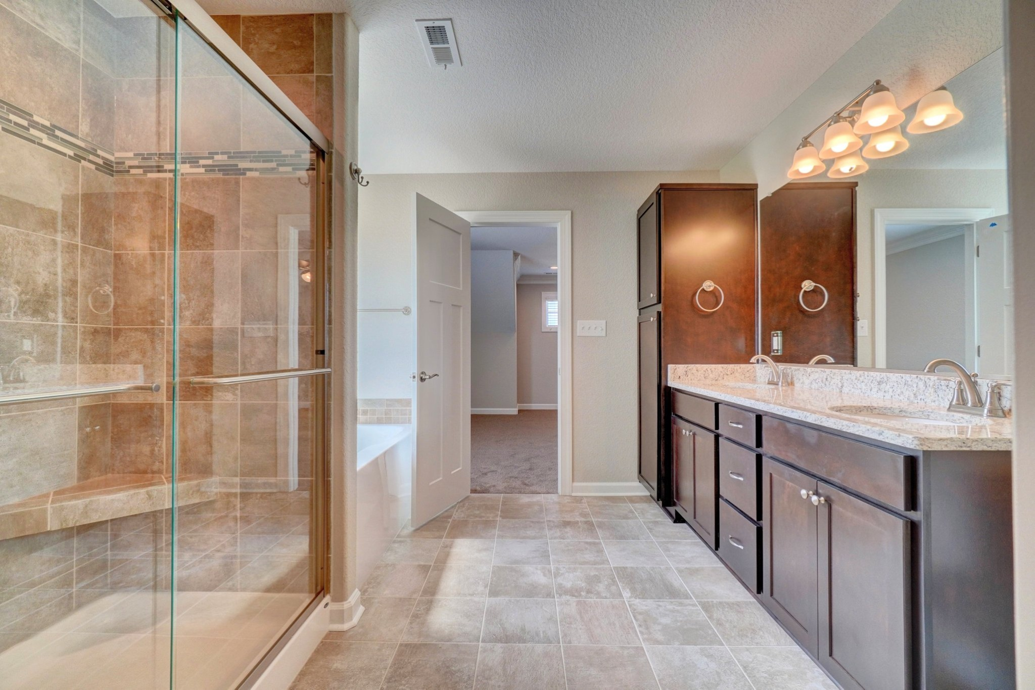 Stunning Master Bathroom in the AB Homes floor plan The Holland