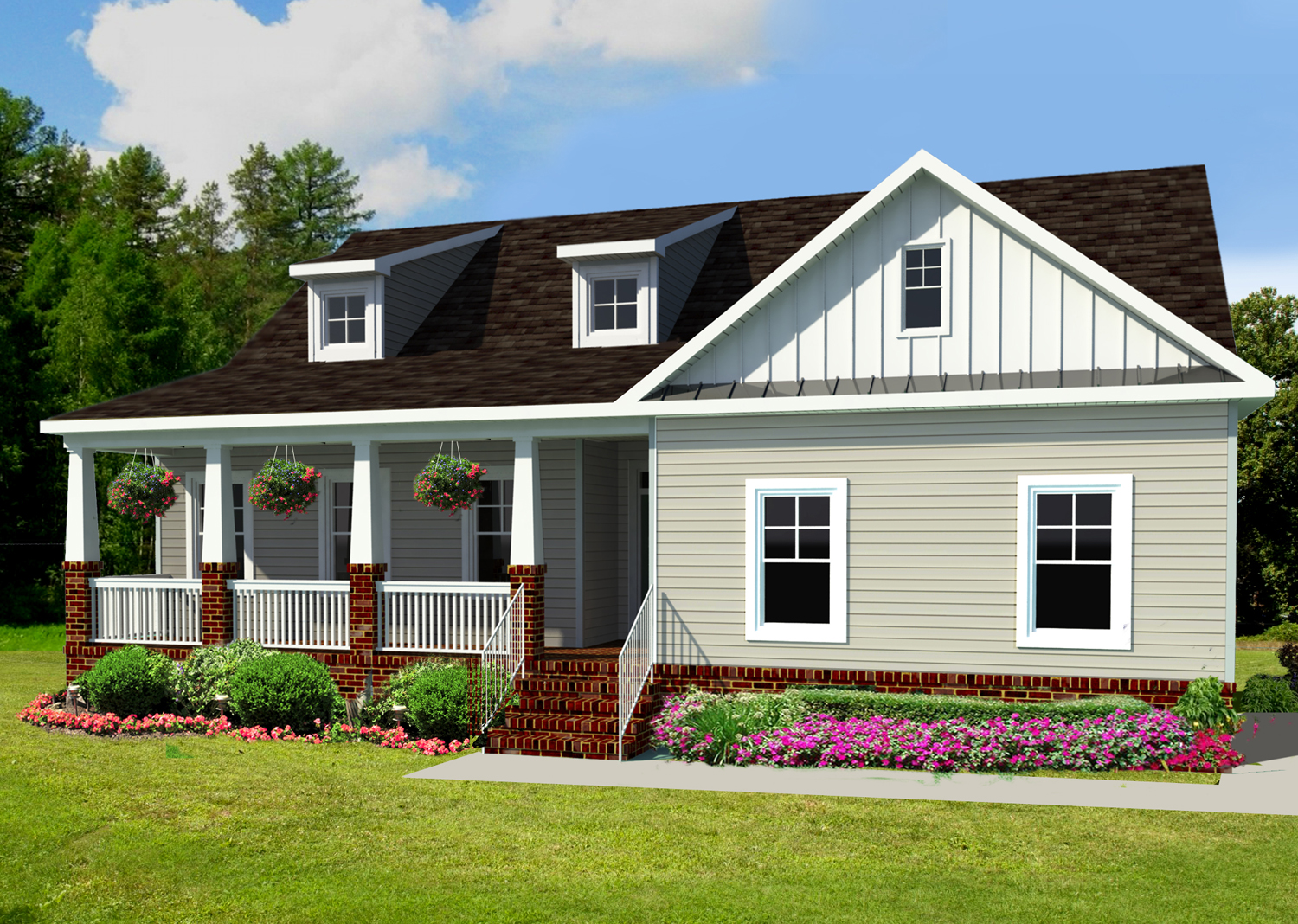Artist rendering of AB Homes' Somerton III with front porch