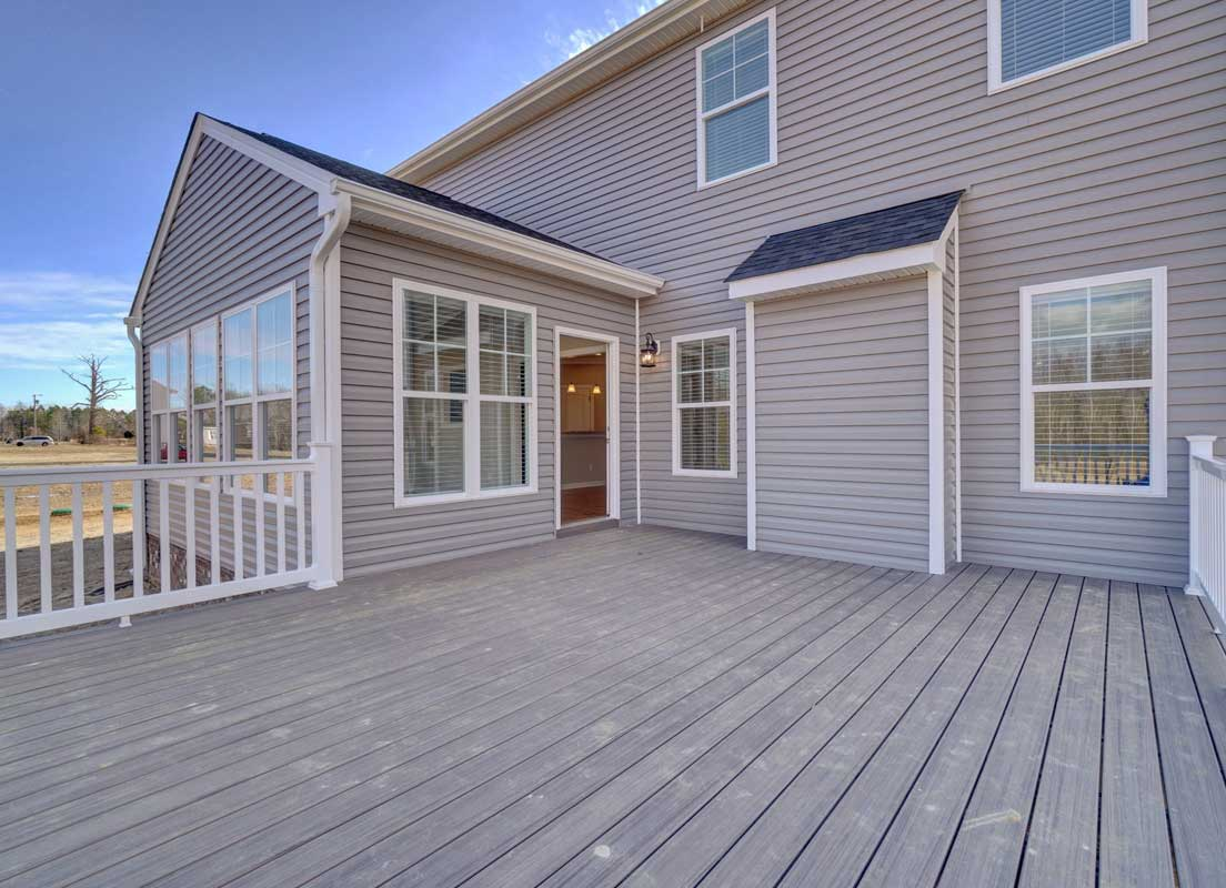 The Back Deck And Sunroom Of The Sussex Floor Plan By AB Homes VA